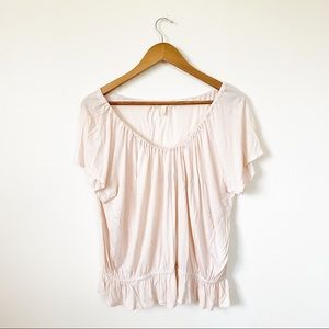 4/$25 Joie Soft Baby Pink Baby Doll Ruched Tee